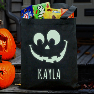 Halloween Glow In The Dark Treat Bag | Personalized Trick-Or-Treat Bags