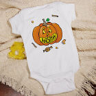 Pumpkin Name Infant Halloween Creeper