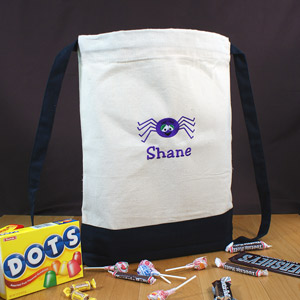 Embroidered Spider Sports Bag