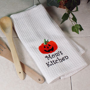 Embroidered Halloween Kitchen Towel Set