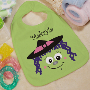 Personalized Halloween Witch Baby Bib