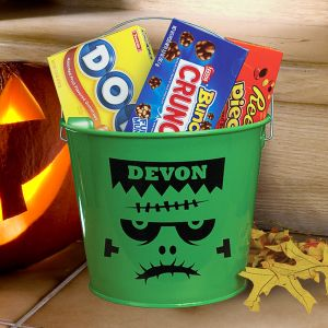 Personalized Frankenstein Halloween Bucket