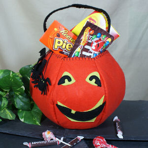 Pun'kin Head Trick or Treat Bag