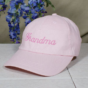 Embroidered Any Name Pink Hat