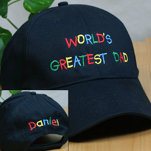 Embroidered World's Greatest Dad Hat