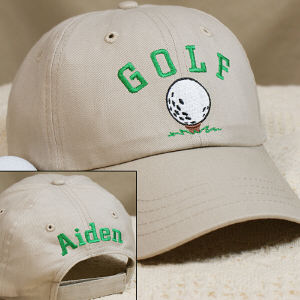 Embroidered Golf Ball Hat