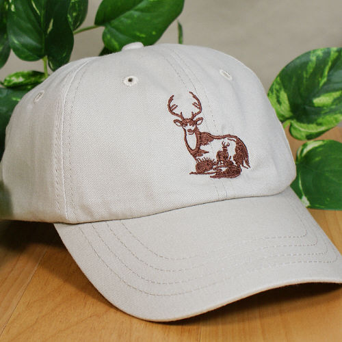 Embroidered White Tail Deer Hat 842856