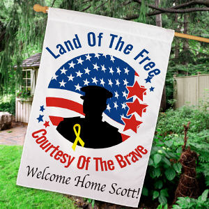 Personalized Land of the Free House Flag