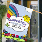 Personalized Grandchildren Spoiled Here House Flag 83020542L