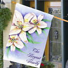 Personalized Easter Lily House Flag