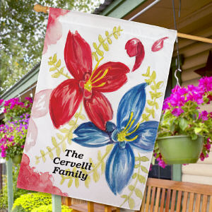 Personalized Welcome House Flag