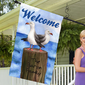 Personalized Summer House Flag