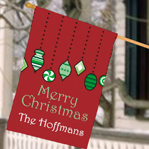 Personalized Holiday Ornaments House Flag
