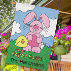 Personalized Happy Easter House Flag