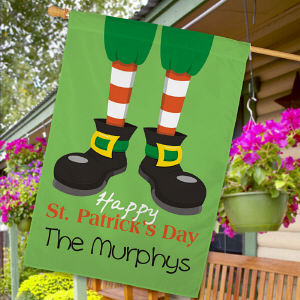 Personalized Happy St. Patrick's Day House Flag