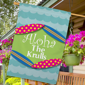 Personalized Summer Welcome House Flag