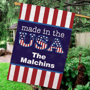 Personalized Made In The USA House Flag