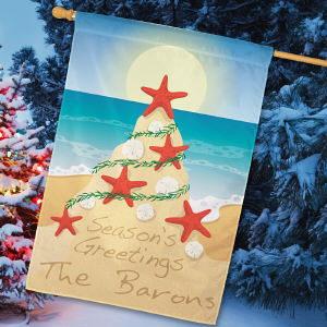 Personalized Tropical Christmas Flag