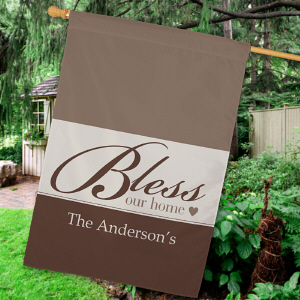 Personalized Bless Our Home House Flag