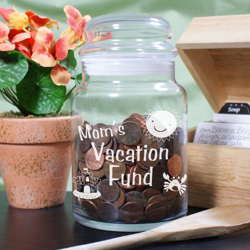 Engraved Money Fund  Goodies Jar Gift