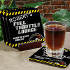 Full Throttle Lounge Personalized Coaster Set