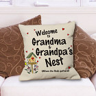 Personalized Our Nest Throw Pillow