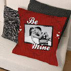 Be Mine Photo Personalized Throw Pillow