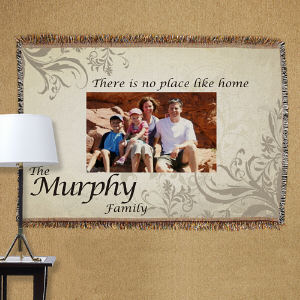 Family Photo Tapestry Throw Blanket