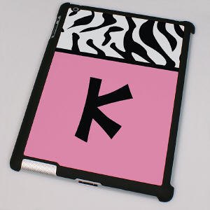 Personalized Zebra Print iPad 2 Case