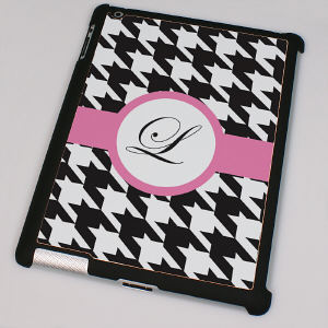 Personalized iPad 2 Case - Houndstooth Design