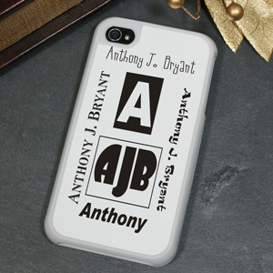 My Initial Personalized iPhone 4S Case
