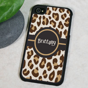 Personalized Leopard Print iPhone 4S Case
