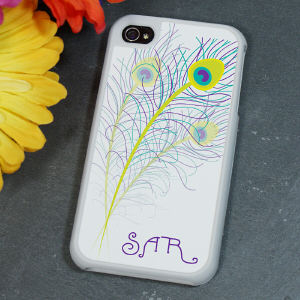 Personalized Peacock iPhone 4 Case