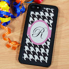 Personalized iPhone 5 Case - Houndstooth Design