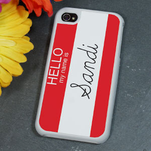 Personalized Hello My Name Is iPhone 4/4S Case