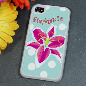 Personalized Flower iPhone 4S Case
