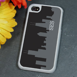 Personalized Chicago City Skyline iPhone 4 Case