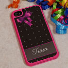 iPhone 4S Pink Bow and Polka Dots Case U614229x