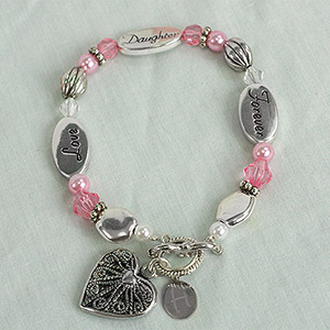 Engraved Daughter Bracelet