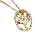 Family Tree  Birthstone Pendant Necklace