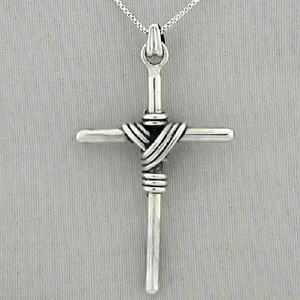 Sterling Silver Cross Pendant Necklace D1DT1010