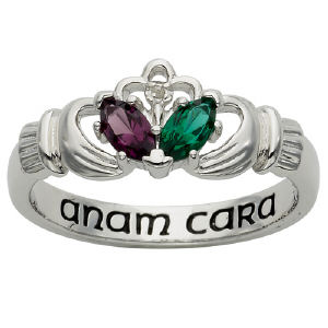 Sterling Silver Couples Claddagh Ring
