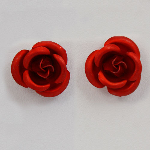 Red Rose Fashion Earrings D2EA1004