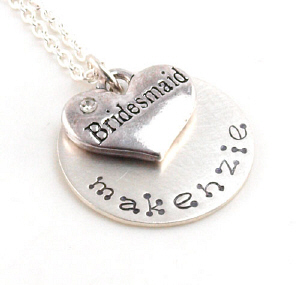 Personalized Bridesmaid Necklace DB15684