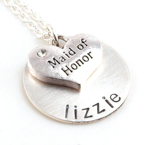 Personalized Maid of Honor Necklace DB18398