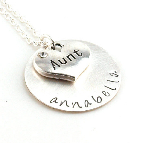 Aunt Hand Stamped Necklace DB19615