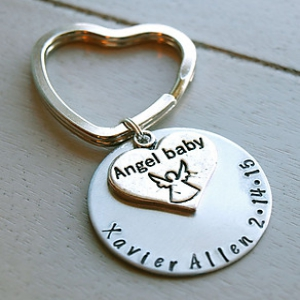 Memorial Personalized Key Chain | Baby Memorial Keychain