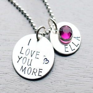 I Love You Birthstone Necklace