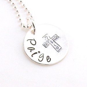 Filigree Cross Sterling Silver Necklace DKBNKSMPCRS
