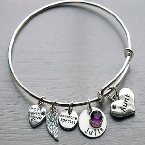 Personalized Grandma Bracelet | Personalized Aunt Gifts